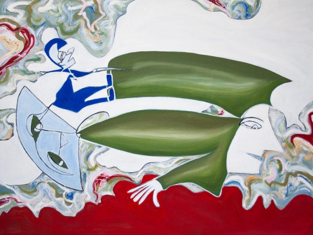 Blind Contour Homage: Oonark by Marlene Lowden