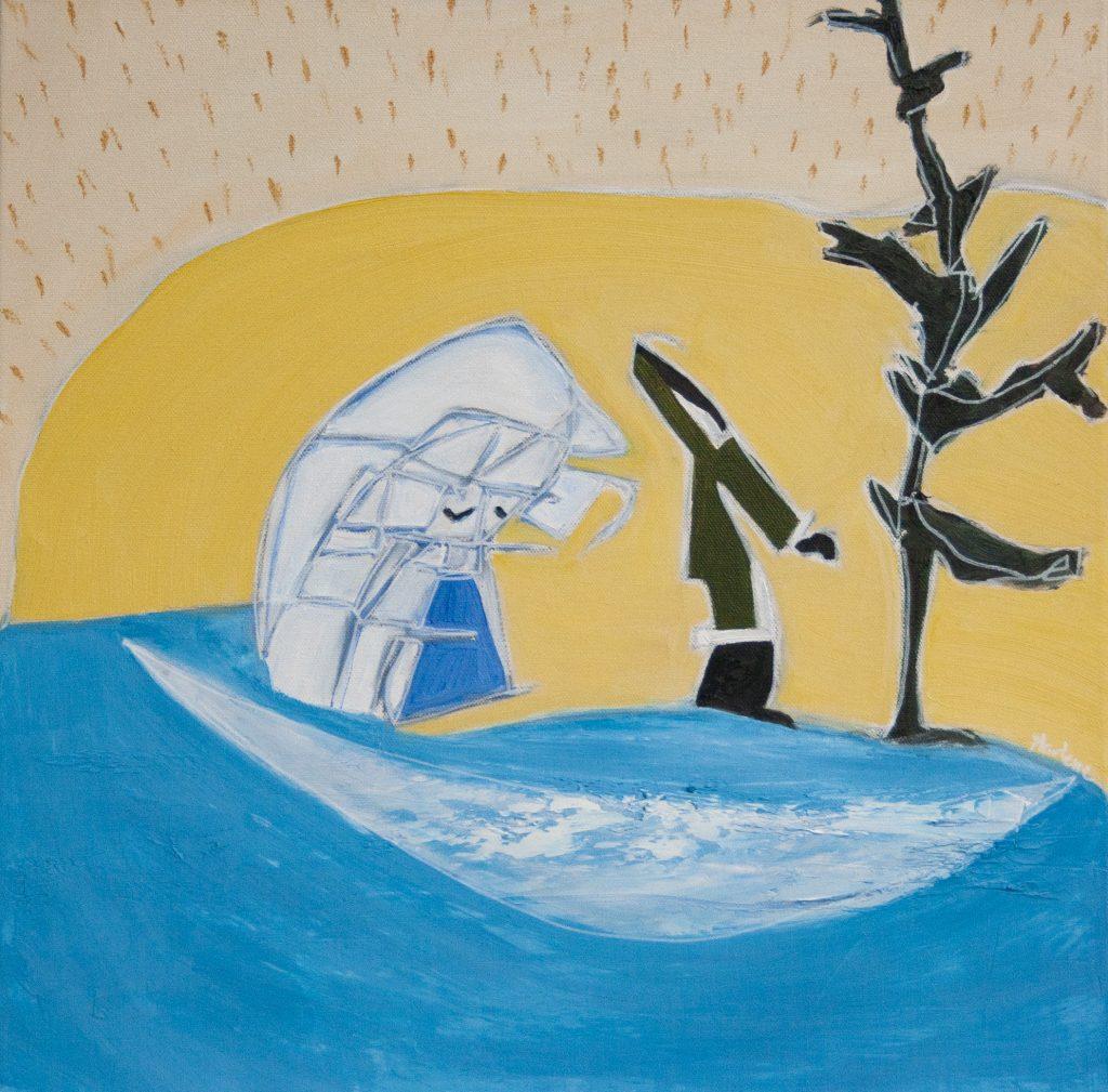 Blind Contour Homage: Ishulutaq by Marlene Lowden