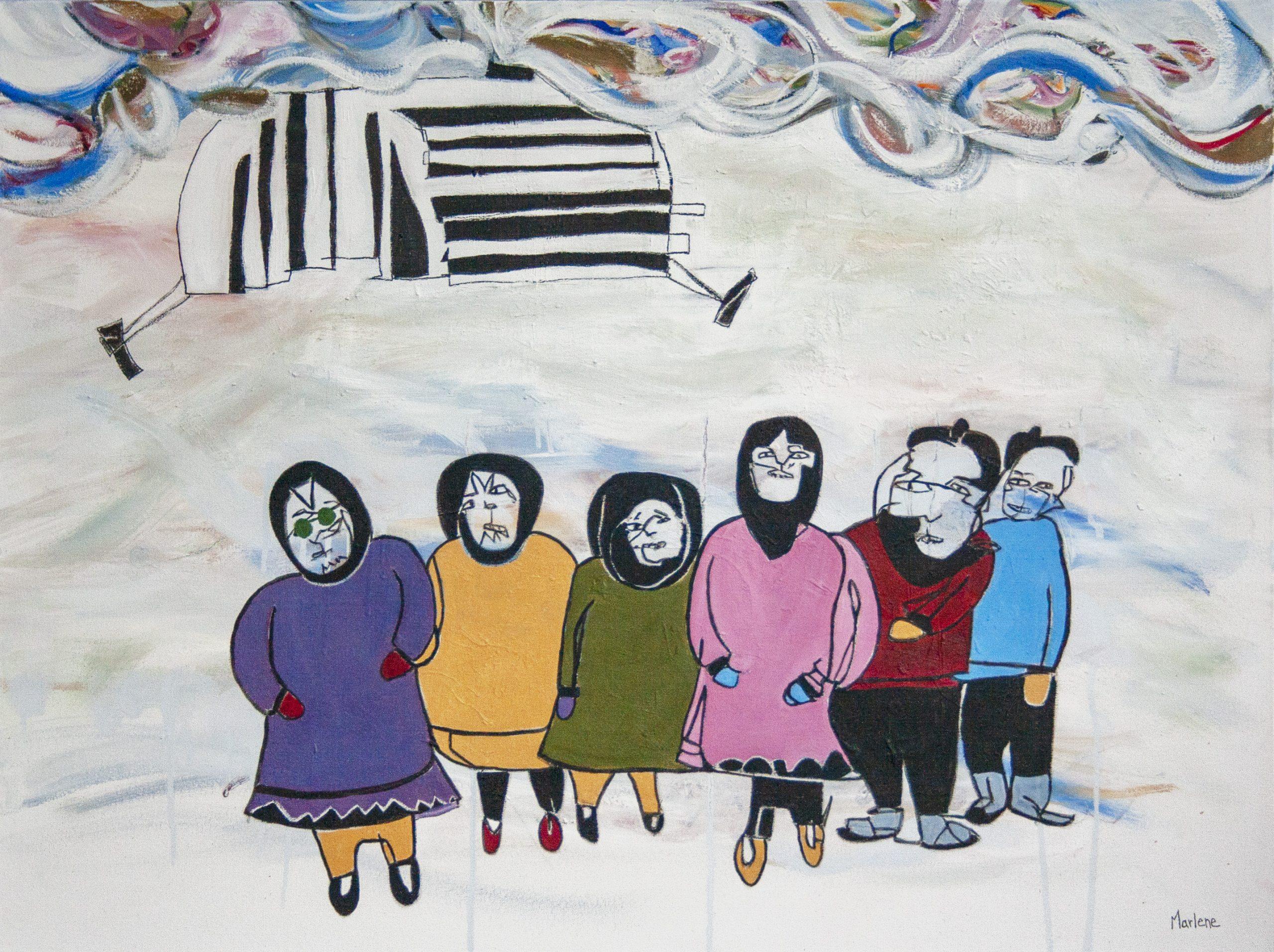 Blind Contour Homage: Kalvak by Marlene Lowden