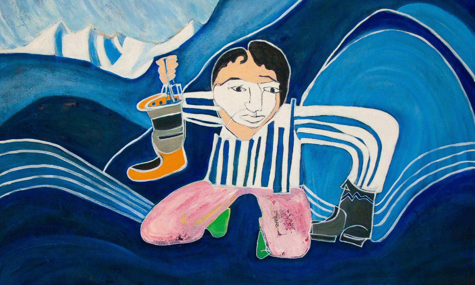 Blind Contour Homage: Pootoogook by Marlene Lowden